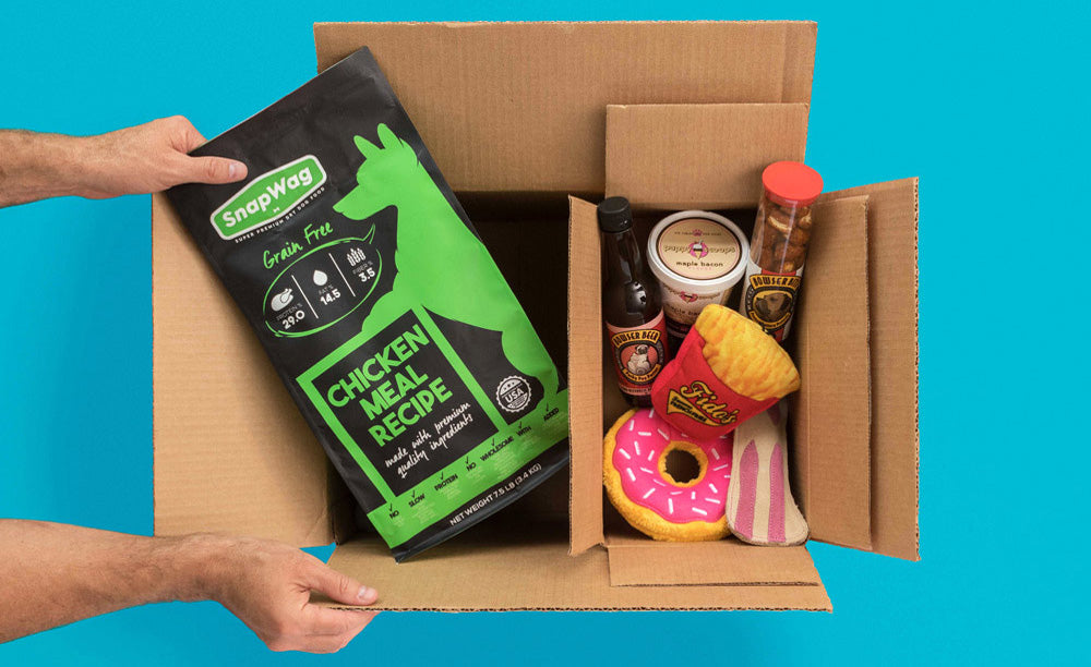 SnapWag Craft Dog Food Subscription Box (22.5 lb - Craft Chicken Meal Recipe)