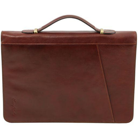 CLAUDIO Exclusive leather document case with handle TL141404
