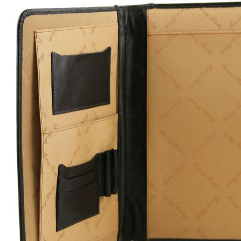 ADRIANO Leather Document Case with Button Closure TL141275