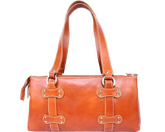 Florence Leather Lady Genuine Calf Leather Handbag With Three Compartments 6541