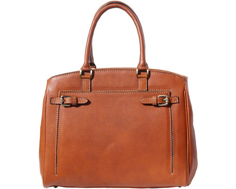 Florence Leather Shoulder tote bag in smooth leather 8501 - Executive Leather