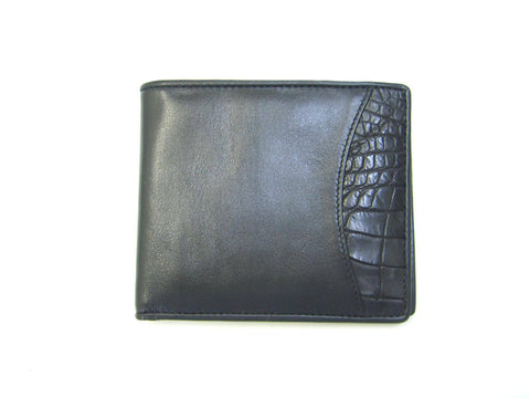 Adori Genuine Crocodile & Cow Leather Mens Wallet - Executive Leather