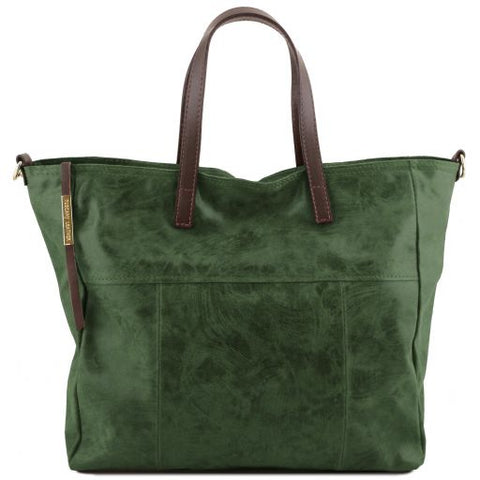 Annie Aged Effect Leather Women Shopping Bag TL141552