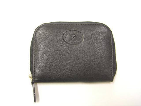Adori Kangaroo Leather Zip Coin Purse with 3 Compartments - Executive Leather
