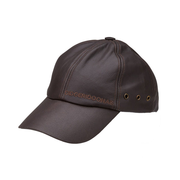 Leather Cap Black & Brown - LC