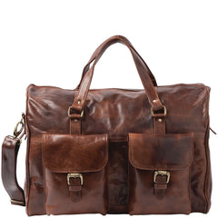 Image of Cobb & Co Soho Leather Overnight Duffle Bag LT58627