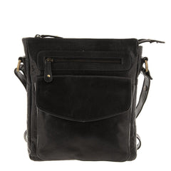Cobb & Co Jordan Wash Leather Crossbody Satchel