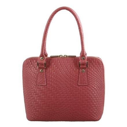 Italian Woven Embossed Structured Leather Handbags - MO2368