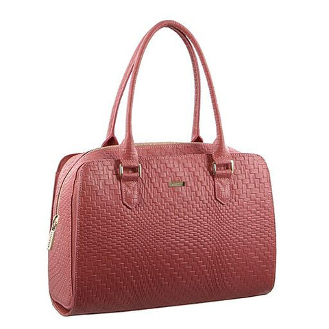 Morrissey Italian Woven Embossed Structured Leather Handbag - MO2370