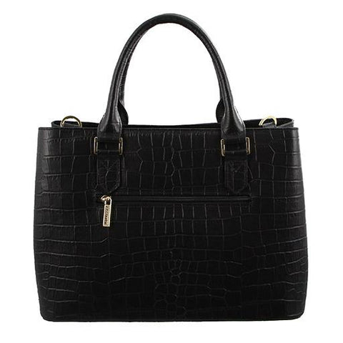 Morrissey Croc Embossed Italian Leather Handbag- MO2518