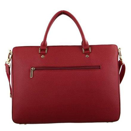Woven Embossed Italian Leather Laptop Bag - MO2528