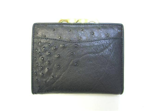 Adori Ostrich & Cow Leather Ladies French Purse - Executive Leather