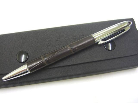 Adori Genuine Crocodile Leather Covered Pen - Executive Leather