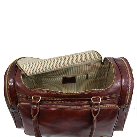 PRAGA Italian Travel Leather Bag TL1048