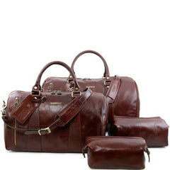 Columbus Leather Travel Set For Him & Her - TL141256