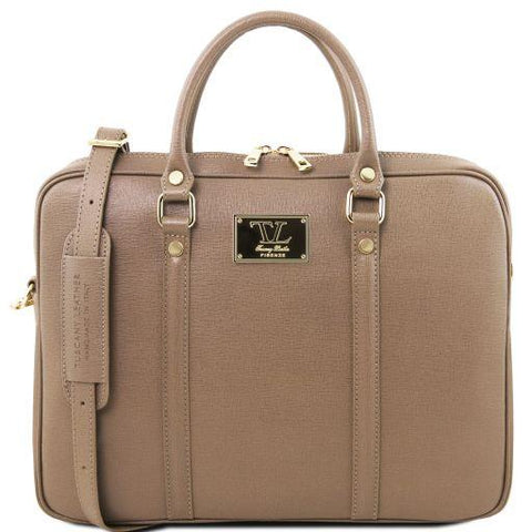 Prato Saffiano Leather Laptop Case TL141626