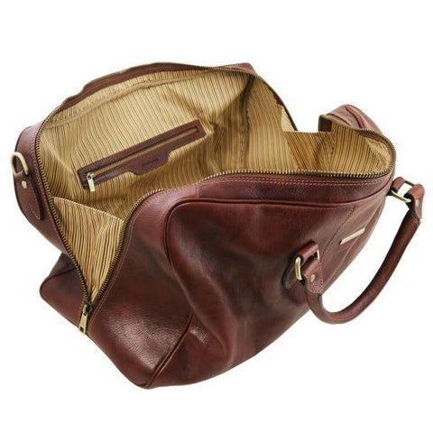 Lisbona Travel Leather Duffle Bag - Large Size - TL141657