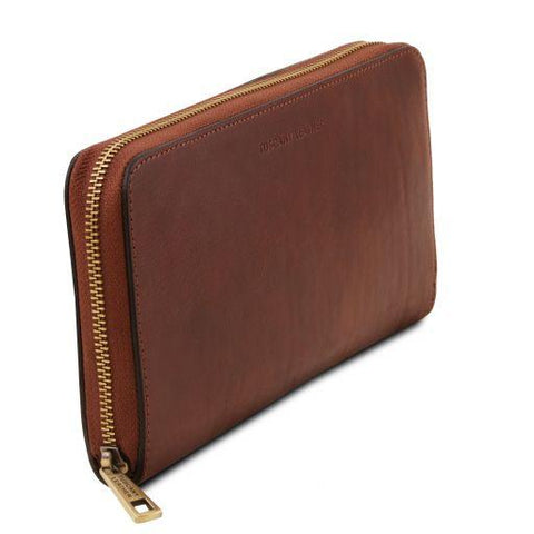 Italian Leather Travel Document Case - TL141663