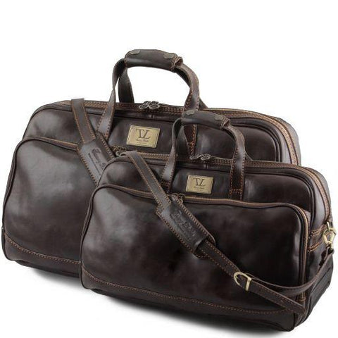 Bora Bora Italian Wheeled Leather Travel Set - TL3072