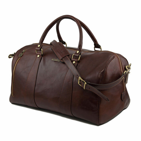TL VOYAGER Travel Italian Leather Duffle Bag Large Size TL141217 - Executive Leather