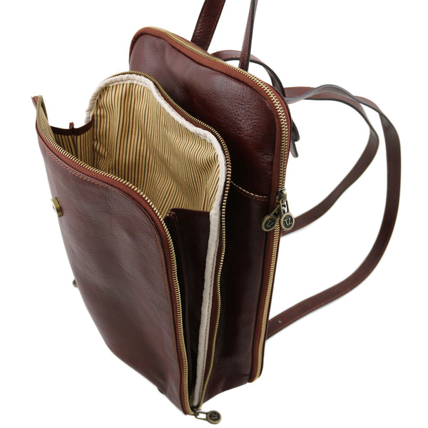 Tuscany Leather Taipei 3 Compartments leather backpack TL141239 - Executive Leather
