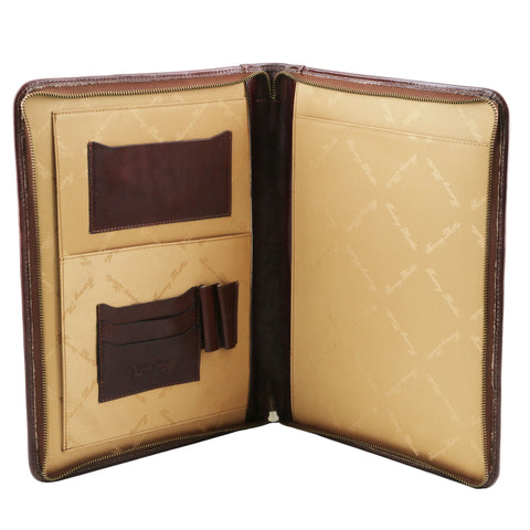 Leather document case with zip closure TL141287 - Executive Leather