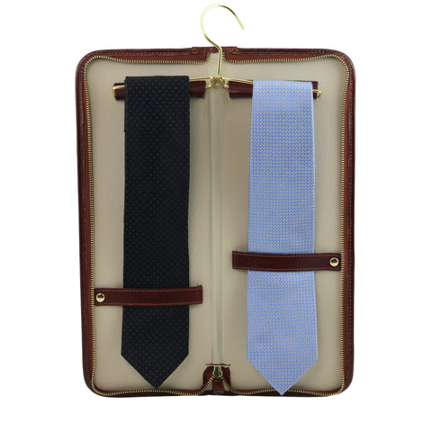 Elegant leather travel tie holder TL141291 - Executive Leather