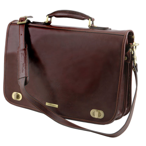Tuscany Leather Certaldo Leather Messenger Bag TL141344 - Executive Leather