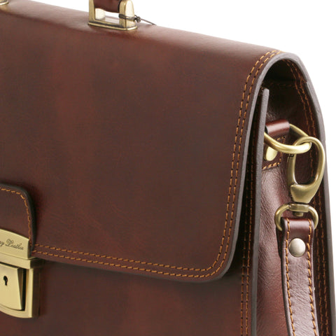 Tuscany Leather Amalfi Leather Briefcase TL141351 - Executive Leather