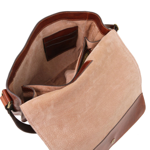 TL Messenger 1 compartment leather shoulder bag - Large size TL141446 - Executive Leather