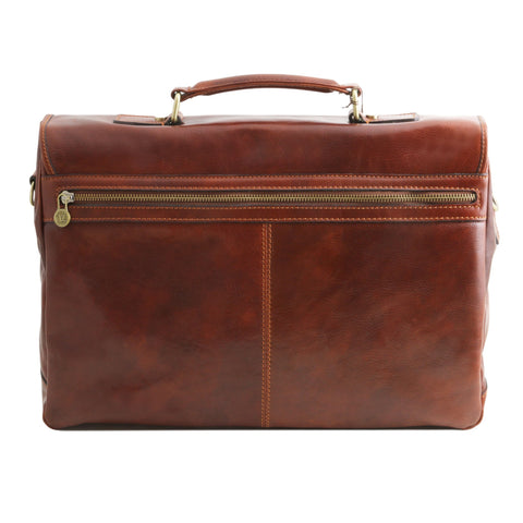 Tuscany Leather Mantova Leather smart Briefcase TL141450 - Executive Leather