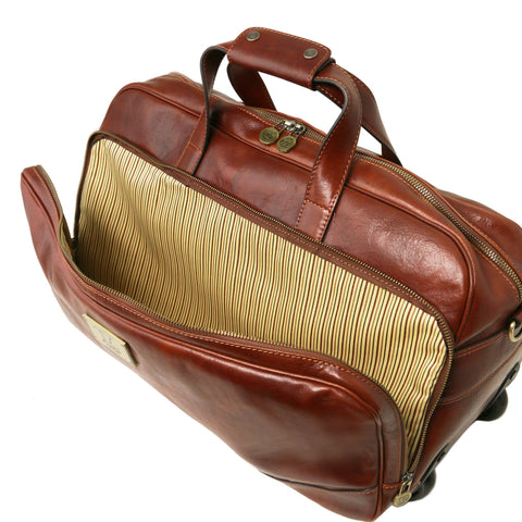 TL Samoa Trolley Leather Bag - Small Size TL141452 - Executive Leather