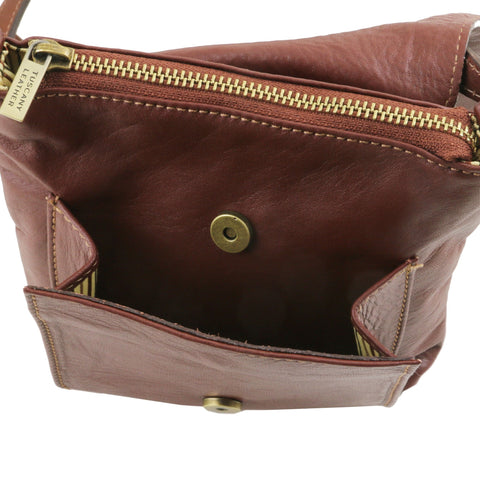 Sasha Unisex soft leather shoulder bag for Men TL141510