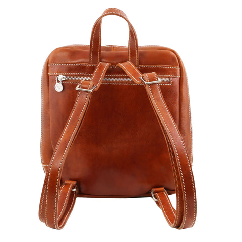 Tuscany Leather Manila Leather Backpack For Men & Women TL141557 - Executive Leather