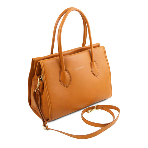 TL BAG Soft leather bag with shoulder strap TL131615