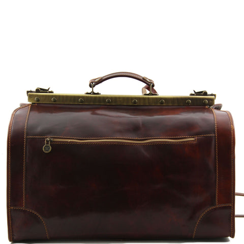 Tuscany Leather Madrid Gladstone Italian Leather Travel Bag Small Size TL1023 - Executive Leather