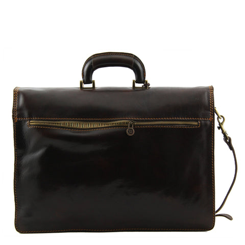 Tuscany Leather Nopoli Leather Briefcase TL10027 - Executive Leather