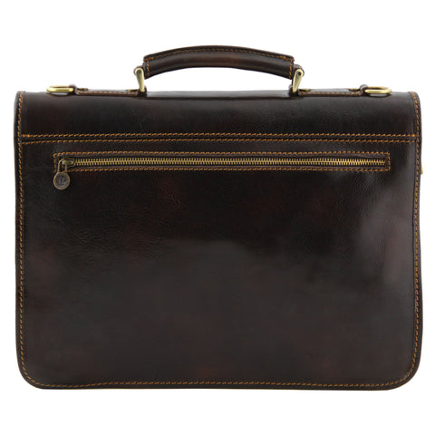 Tuscany Leather Firenze Leather Briefcase TL10028 - Executive Leather
