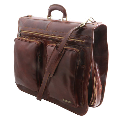 Tuscany Leather Tahiti Garment Italian Leather Bag TL3030 - Executive Leather