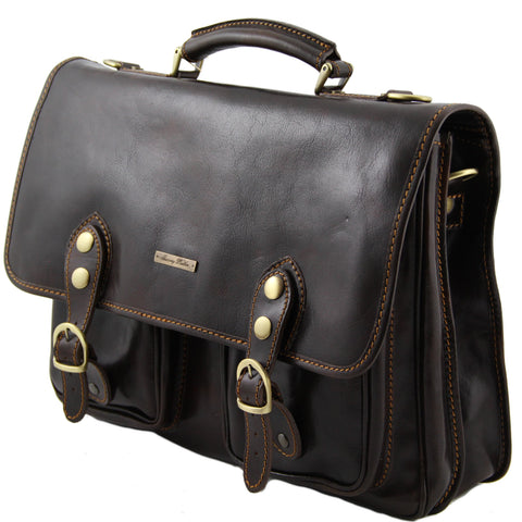 Tuscany Leather Modena Leather Briefcase Large Size TL100310 - Executive Leather
