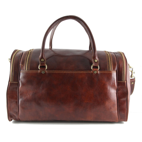PRAGA Italian Travel Leather Bag TL1048 - Executive Leather