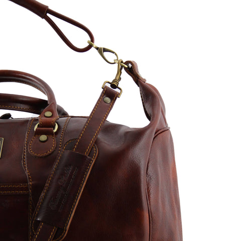 Tuscany Leather Amsterdam Travel leather weekender bag TL1049 - Executive Leather