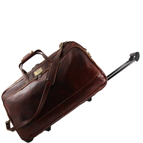 Tuscany Leather Bora Bora Trolley Italian Leather Bag Large Size TL3067 - Executive Leather