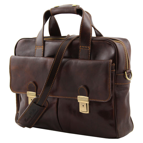 Tuscany Leather Reggio Emilia Exclusive Leather Laptop Case TL140889 - Executive Leather