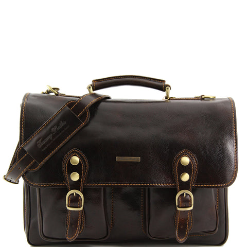 Tuscany Leather Modena Leather Briefcase TL141134 - Executive Leather