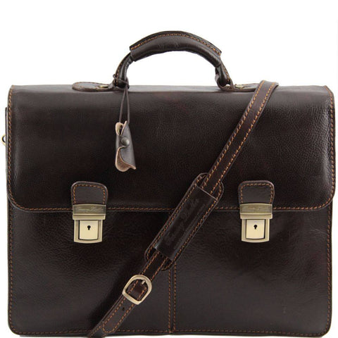 Tuscany Leather Bolgheri Leather Briefcase TL141144-Executive Leather