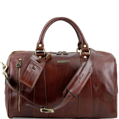 Tuscany Leather TL Voyager Travel Leather Duffle Bag Small Size TL141216 - Executive Leather