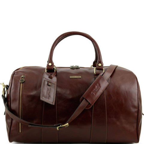 Tuscany Leather Voyager Travel Italian Leather Duffle Bag Large Size TL141217 - Executive Leather