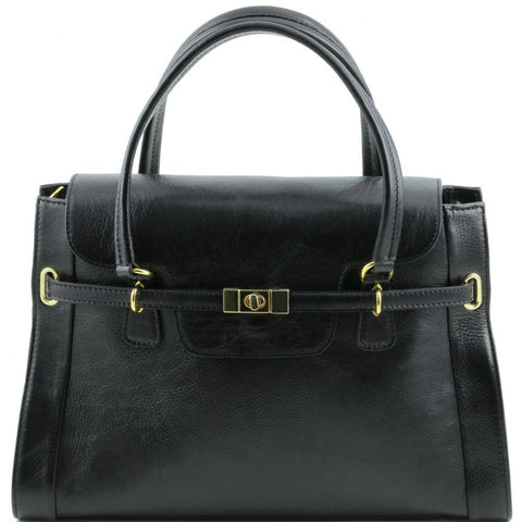 TL Noeclassic Lady Leather Handbag with Twist Lock TL141230 - Executive Leather