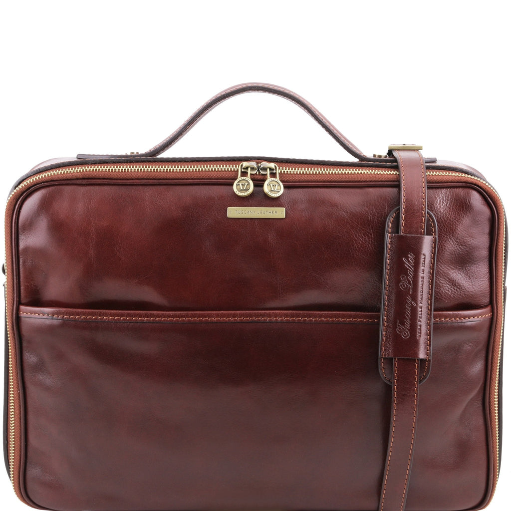 Tuscany Leather Vicenza Leather Laptop Briefcase TL141240 - Executive Leather